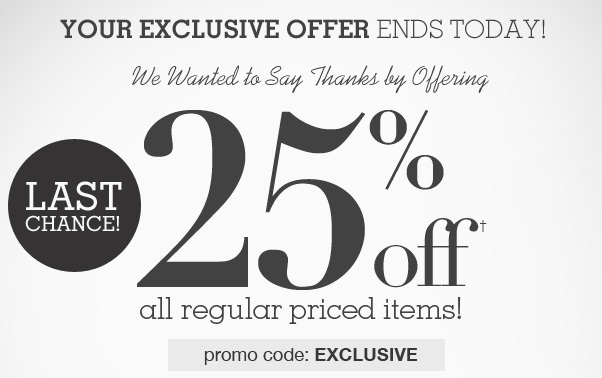 Hurry - 25% Off Sale Is Coming To An End!