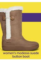 women's modessa suede button boot