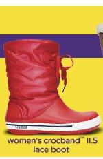 women's crocband™ lace boot