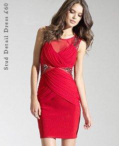 Stud Detail Dress