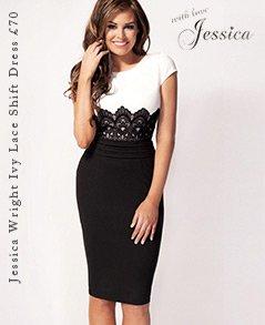 Jessica Wright Ivy Lace Panel Shift Dress