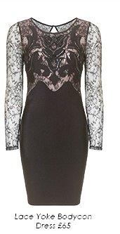 Lace Yoke Bodycon Dress