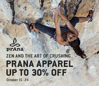 Up to 30% Off prAna Apparel