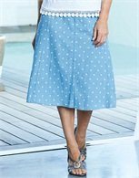 Panelled Spotty Skirt