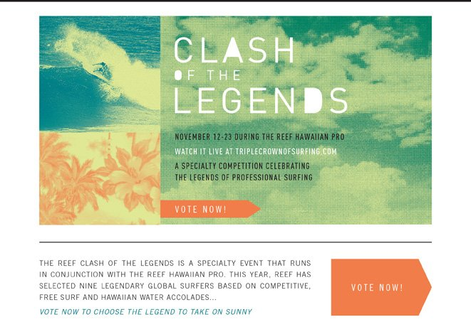 Vote Now! Have you voted for the Clash of the Legends?