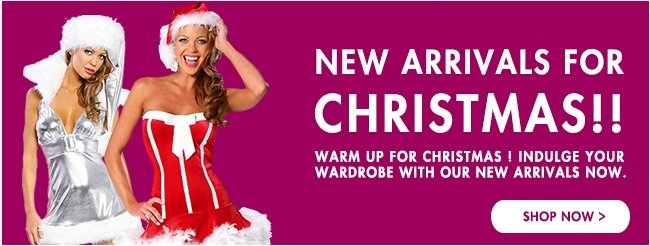 New Arrivals for Christmas!! Buy Belongs and Ready for Christmas! New Style-Hurry Up!! Shop Now>>