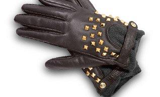 Stud Detailed Nappa Glove