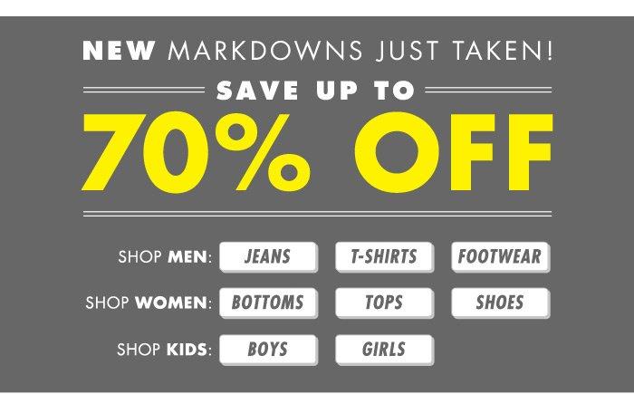 Shop DrJays.com Take 70% Off New Markdowns