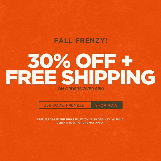 Bloody Good Deal: 30% Off + Free Shipping on orders over $150