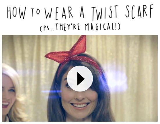 how to wear a twist scarf