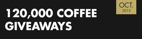 120,000 Coffee Giveaways