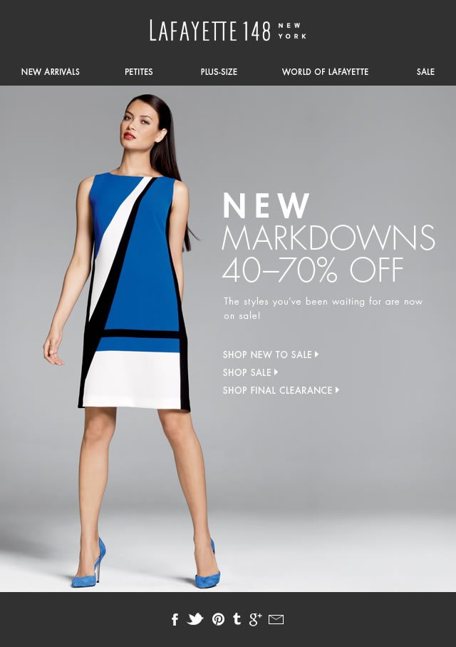 Save 40% on New Markdowns