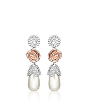 R&J Pearls Pierced Earrings