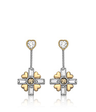 R&J Cross Pierced Earrings