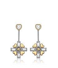 R&J Cross Pierced Earrings
