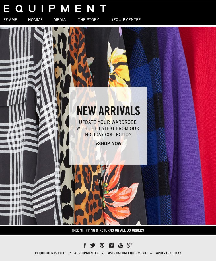 NEW ARRIVALS UPDATE YOUR WARDROBE WITH THE LATEST FROM OUR HOLIDAY COLLECTION >SHOP NOW
