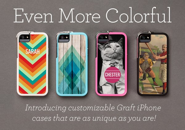 Even more colorful - Introducing customizable Graft iPhone cases that are as unique as you are!