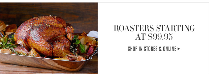 ROASTERS STARTING AT $99.95 - SHOP IN STORES & ONLINE