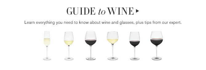 GUIDE to WINE - Learn everything you need to know about wine and glasses, plus tips from our expert.