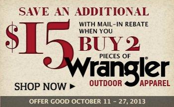 Wrangler Rebate