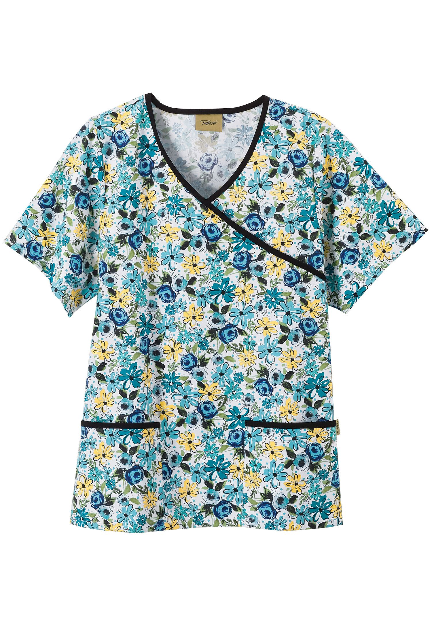 For Keeps Crossover Scrub Top