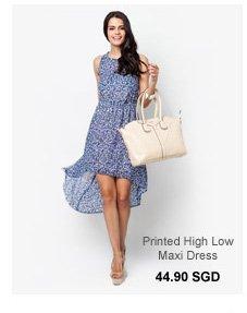 CLOSET Printed High Low Maxi Dress