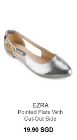 EZRA Pointed Flats With Cut-Out Side