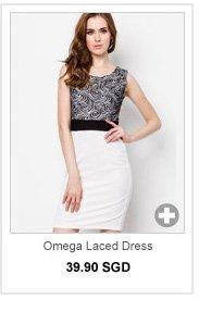 ESTELLE Omega Laced Dress