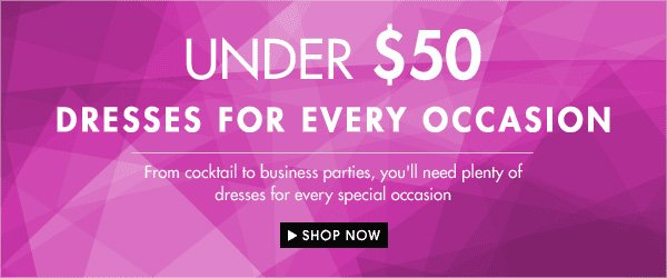 Under $50 dresses for every occassion