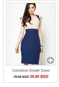 GLITTER GLAM Colorblock Sheath Dress
