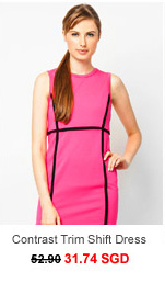 M)PHOSIS Contrast Trim Shift Dress