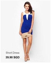 I-STYLIZT Jacey Sleeveless Short Dress