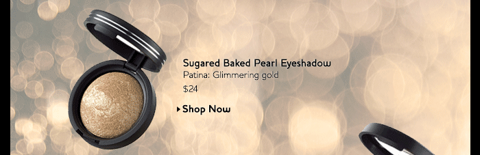 Sugared Baked Pearl Eyeshadow - Patina: Glimmering gold