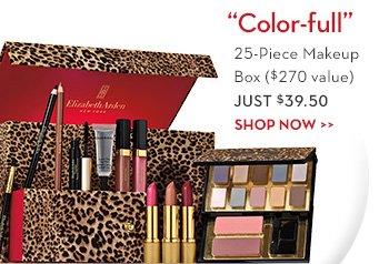 """Color-full"". 25-Piece Makeup Box ($270 value) JUST $39.50. SHOP NOW."
