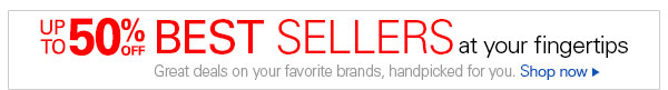 Up to 50% off best sellers at your fingertips: Great deals on your favorite brands, handpicked for you. Shop now