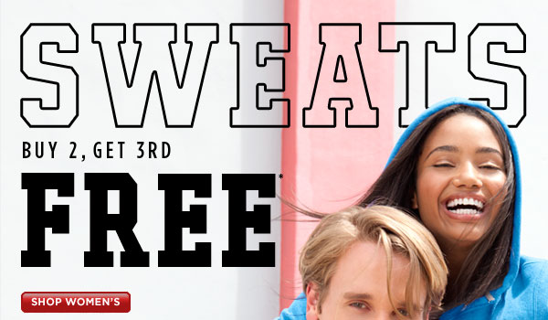 SHOP Women's Sweats Buy 2, Get 3rd Free