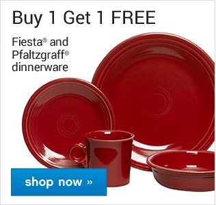 Buy One Get One Free. Fiesta and Pfaltzgraff dinnerware. Shop now.
