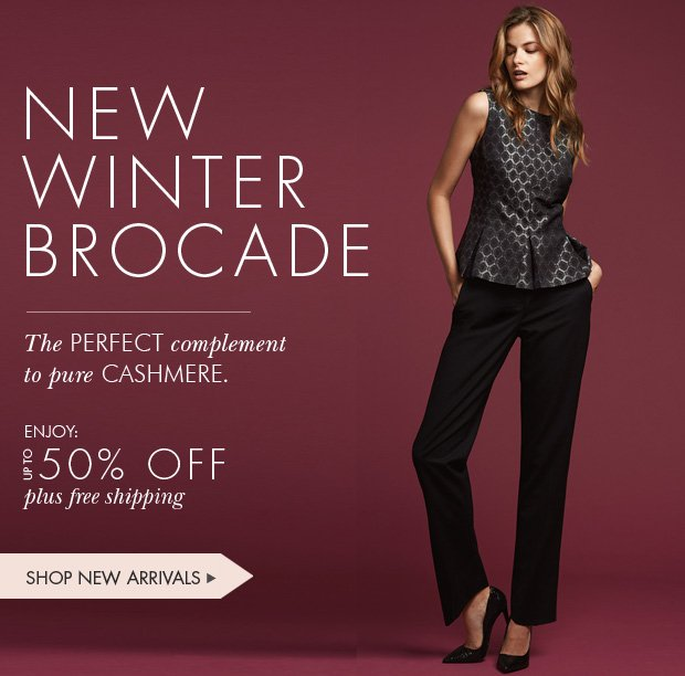 Download Images:  Shop Winter Brocade with up to 50% off plus free shipping and free returns