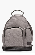 KRISVANASSCHE Charcoal Melange PVC-trimmed backpack for men