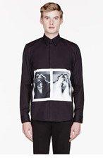 GIVENCHY BLACK X-RAY print shirt for men