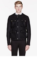 GIVENCHY Black wool cargo jacket for men