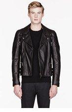 BELSTAFF Black leather THORNWOOD jacket for men