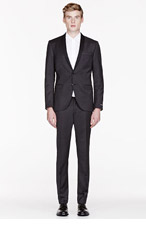 TIGER OF SWEDEN Charcoal wool-cashmere TROY 3 Suit for men