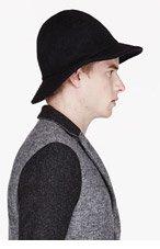 ROBERT GELLER Black felted wool CONRAD HAT for men