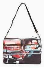 PAUL SMITH Black Canvas Taxi Driver Messenger Bag for men