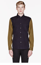 MARC BY MARC JACOBS Navy blue OXFORD contrast-sleeved SHIRT for men