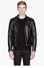 SURFACE TO AIR Black leather Zipped MERCURY jacket for men