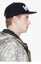 WINGS + HORNS Navy Logo MOLESKIN Baseball cap for men