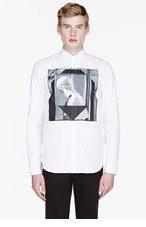 GIVENCHY White framed statue print shirt for men