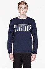 WHITE MOUNTAINEERING Blue WHITE print sweatshirt for men